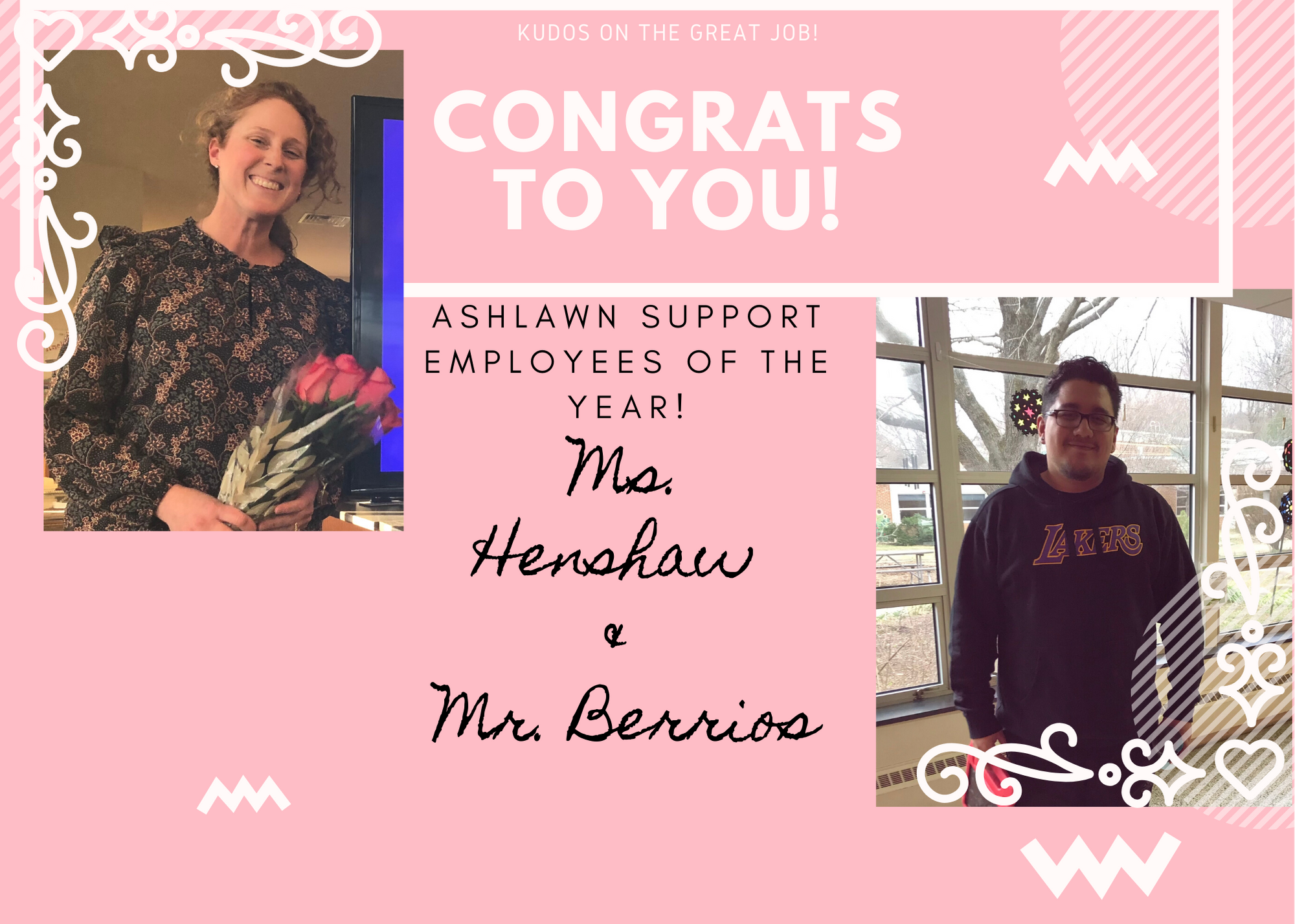 Ashlawn Support Employees of The Year