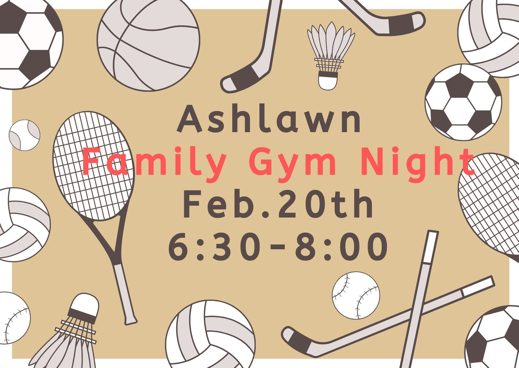 Ashlawn Family Gym Night