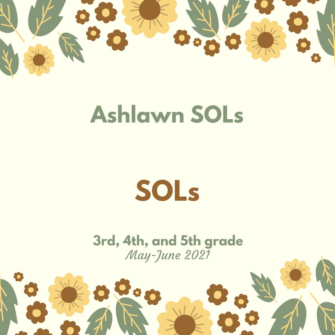 Ashlawn SOLs 2021 3rd-5th grade