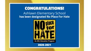 Ashlawn 초등 증오를위한 장소 없음
